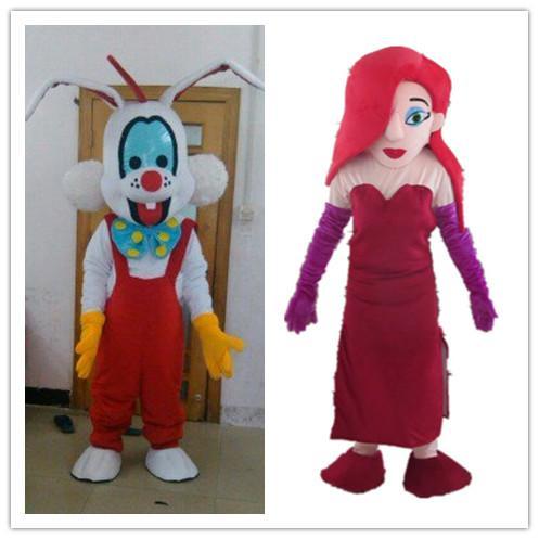 Sx0721 Jessica Rabbit Bunny Roger Rabbit Mascot Costume For Adult To