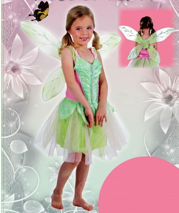 Carnival Costumes Kids Girl Tinkerbell Costume for Girls Green Fairy Wings Dress Birthday Cosplay Dress in Stock Tinkerbell Costume for Girls Green Fairy ...  sc 1 st  DHgate.com : childrens tinkerbell costume uk  - Germanpascual.Com