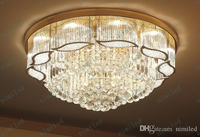 Nimi572 Lujo Moderno Luz de Cristal LED Techo Redondo Salón Luces Colgantes Restaurante Luces Luces Dormitorio Iluminación