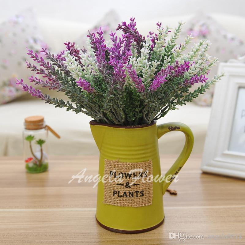 Wholesale real look artificial silk lavender mix better decorative flower romantic 5 heads for wedding party hotel home decoration