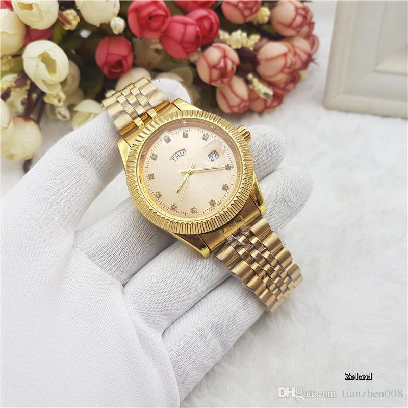 40 Mm Deluxe Double Calendar Quartz Watch Brand Fashion