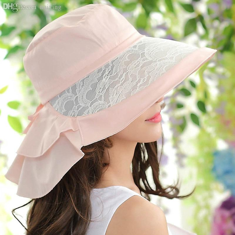 361e5a73920 Wholesale Hats Girls Summer Neck Face Covering Sun Hat Sun Hat Women S  Cycling Anti UV Fishing Hats Funny Hats From Naixing