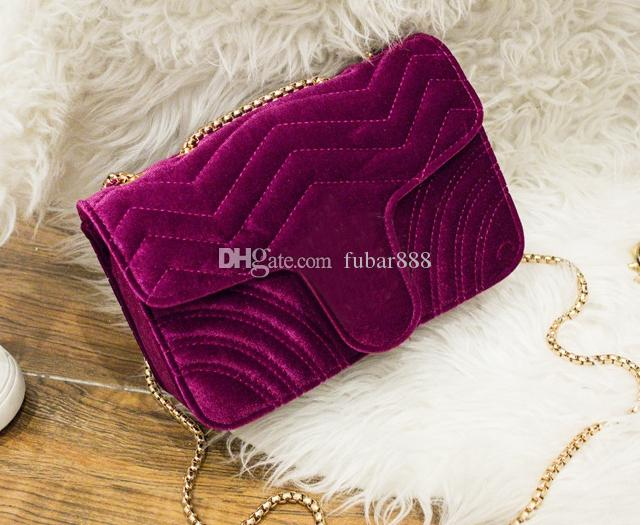 15cd63d7c592 !velvet Bag Women Famous Shoulder Bags Real Leather Chain Crossbody Bag  Winter Fashion Handbags Women Bags 446744 443497 Handbag Online with   105.0 Piece on ...