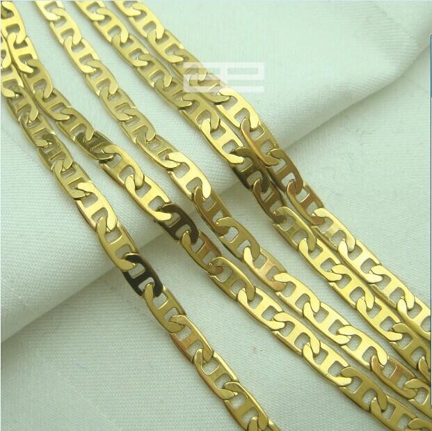 18 ك 18ct الذهب معبأ 55 سم طول قلادة سلسلة كول N192