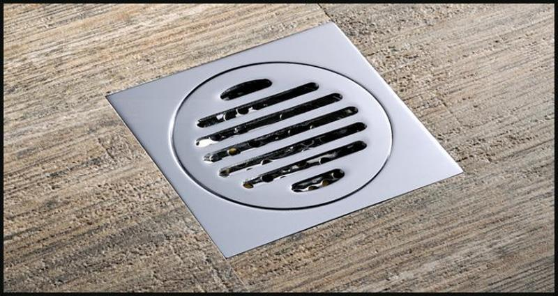 Bathroom Floor Drain : Drainer square shower floor drain with removable