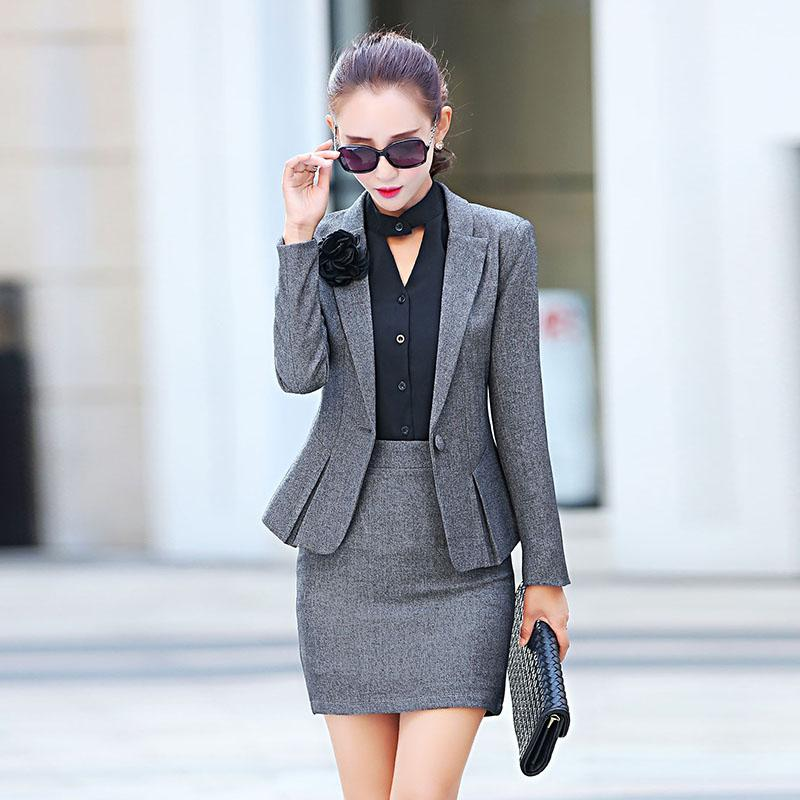 fdcf79eed40 2019 Women Workwear Pant Suits New 2016 Fall Fashion Ladies Formal Office  Work Suits Elegant Blazer Feminino With Pant Plus Size XXL From Marrisha