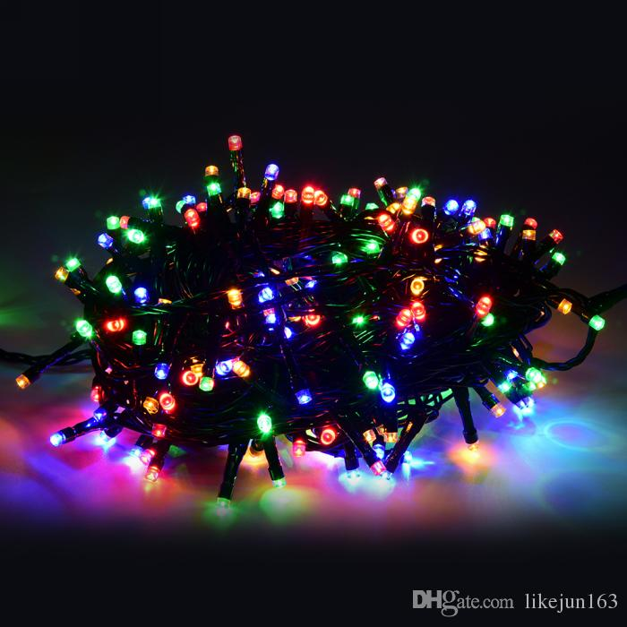100m 500LEDs UL black wire waterproof christmas lights LED string lights christmas halloween party wedding decorations ledlights