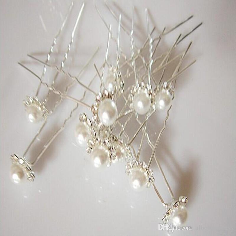 2019 hot Hairpins Wonderful High Quality Cheap Beautiful Pearl Wedding Bridal Flora Tiaras Hair Accessory Headpiece