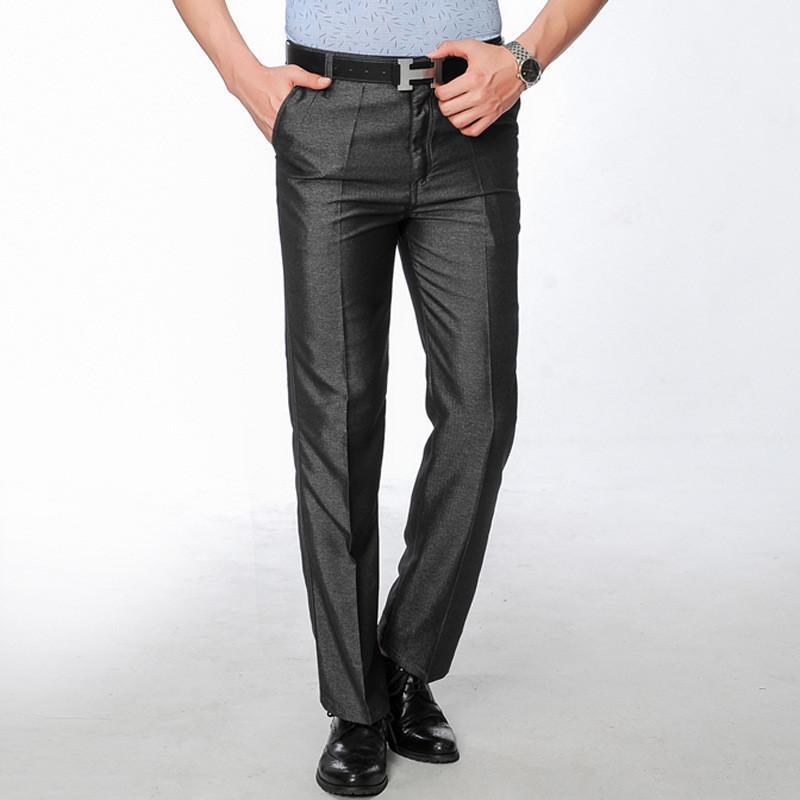 Compre Al Por Mayor Mens Pantalones De Vestir 2017 Hombres De Moda Slim Fit  Traje Negro Pantalones Traje Pantalon Homme Regular Fit Gris Pantalones  Rectos ... 6274f85dbdd7
