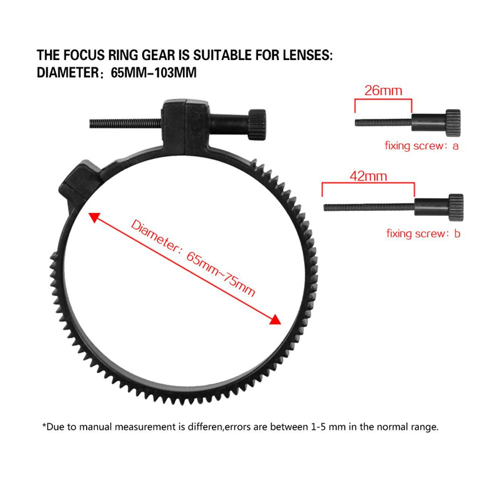 Follow Focus Finder CN-90F Follow-Fokus mit Getriebegürtel für Canon Nikon DSLR Cameras Camcorder