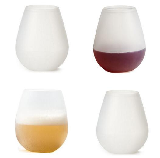 Silicone Wine Glasses 12oz Cool Cup Red White Wine Beer Whiskey Any Beverage Dishwasher Safe