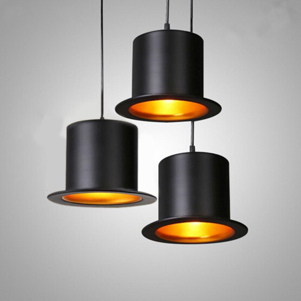 Modern Hat Pendant Lights Cafe Restaurant Bar E27 Indoor Hanging Led ...
