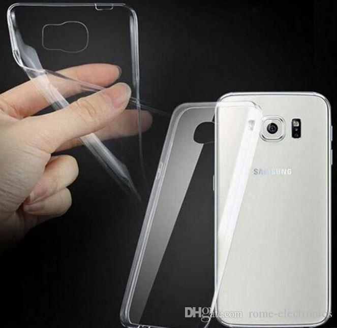 For Samsung Galaxy S7 S7 edge Iphone 6s Plus Case Crystal Gel Case, Ultra-Thin transparent Flexible Soft TPU Cases Galaxy S6 Clear Cases