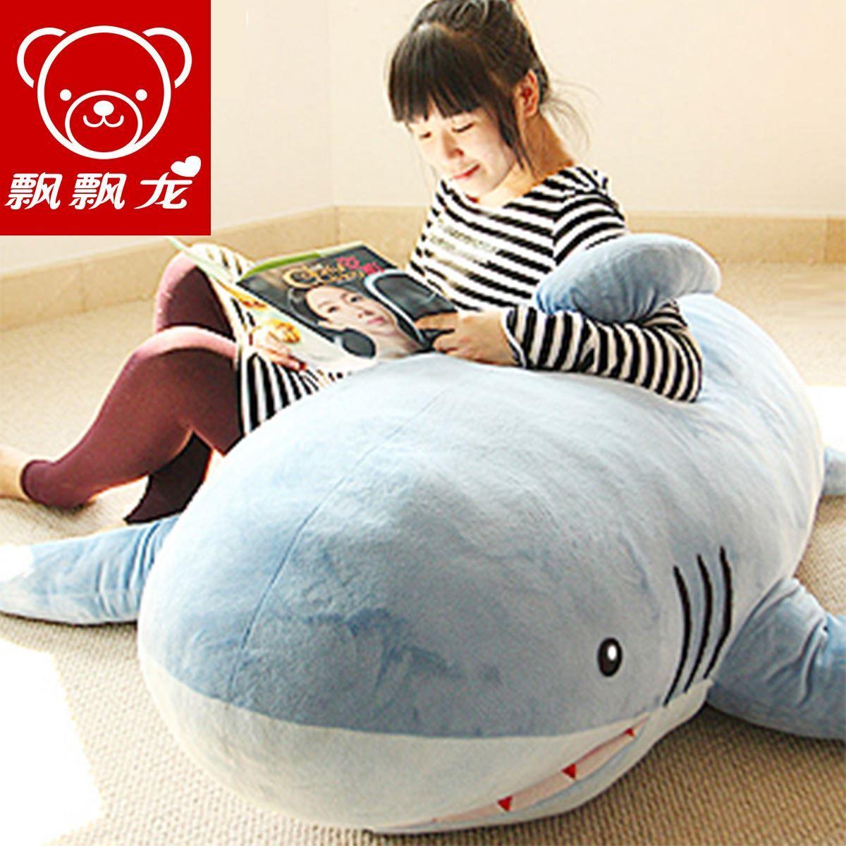Shark Pillow Sleeping Bag 2017 fluttering dragon 1.8 m shark oversized plush toy doll pillow