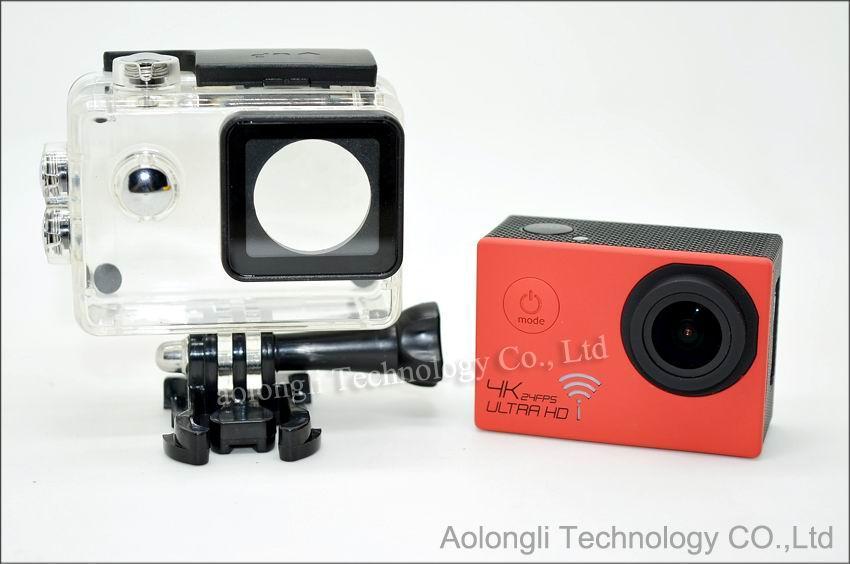 HD 4K 24fps cámara SJ8000 WiFi Cámara de acción deportiva Novatek NT96660 16MP 2.0LCD Casco de acción impermeable Cámaras 1080P / 60fps Video DVR