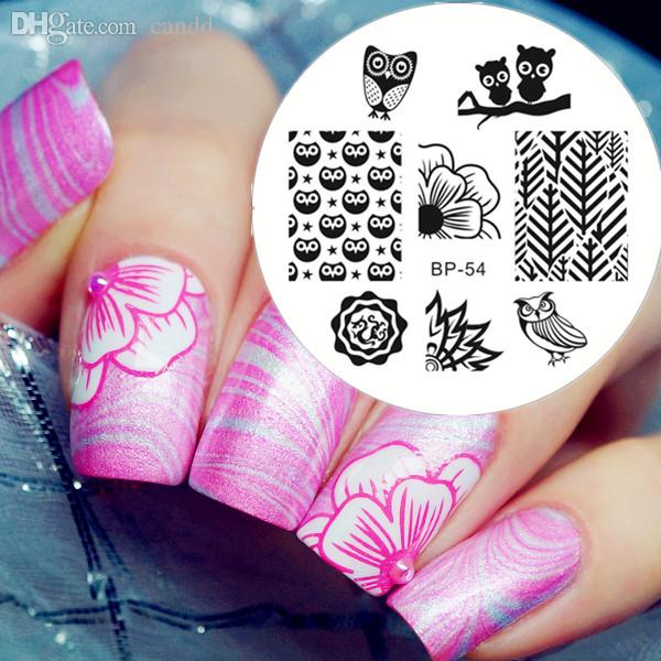 Wholesale Cute Owls Nail Art Stamping Stamp Template Image Plate