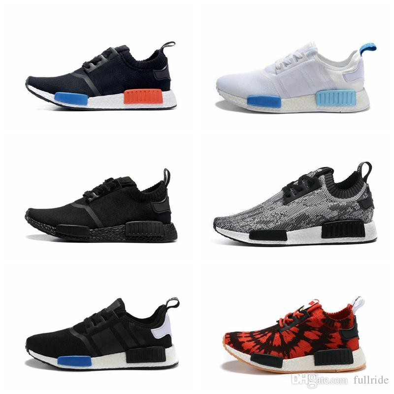 a2c74fdff Runner R1 PK Primeknit OG Black Triple White Nice Kicks Circa Knit Men  Women Running Shoes Sneakers Originals Classic Casual Shoes Running Shoes  Casual ...