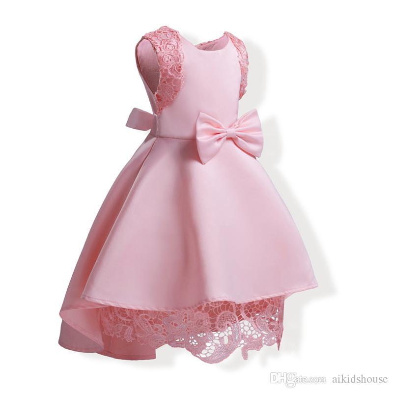 bca76bd15ed37 Satın Al Toptan Bebek Kız Elbise Yaz Pembe Dantel Tığ Elbise 2018 Çocuk Giyim  Kız Elbise Yüksek Düşük Elbise Çocuk Pamuk Astar Giysi, $14.6 |  DHgate.Com'da