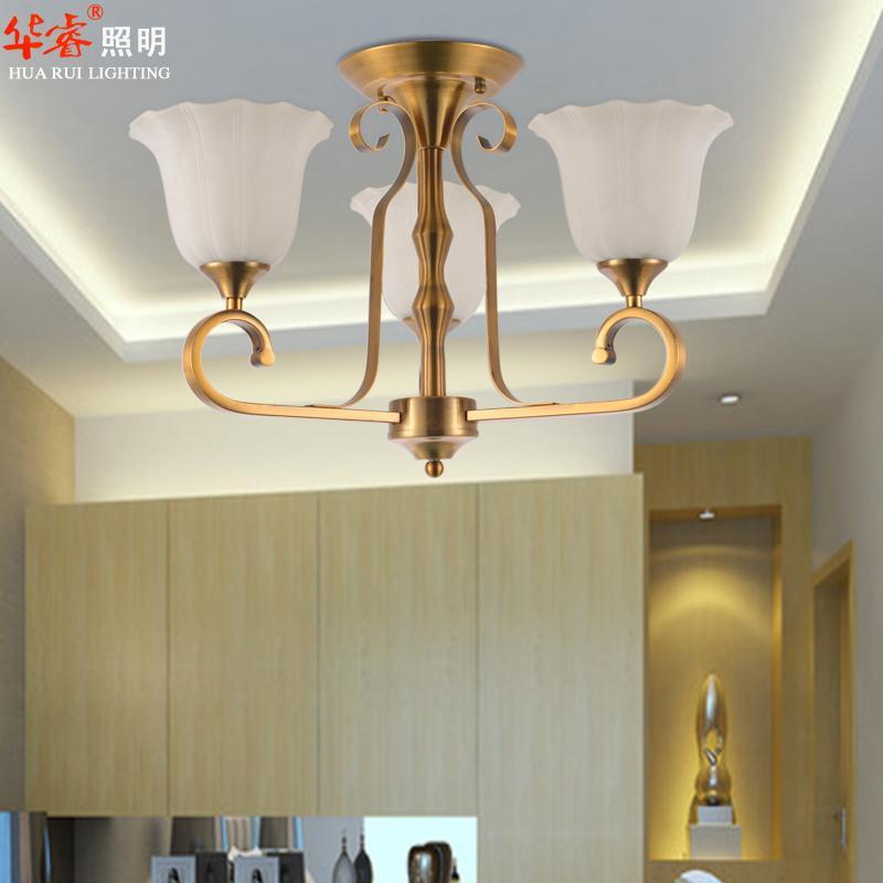 Grosshandel Aufhngung Messing Wohnzimmer Leuchten 3 Kopf Antike Kronleuchter Klassischen Industrie Metall Decke Pendelleuchten Glas Lampenschirm Von