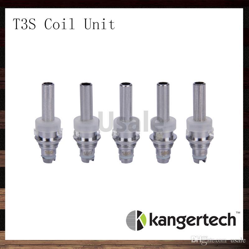 Kanger t3s spuleneinheit kangertech t3s cc klar cartomizer ersatzspulen kopf 1,5 1,8 2,2 2,5 ohm spulen für t3s zerstäuber 100% original