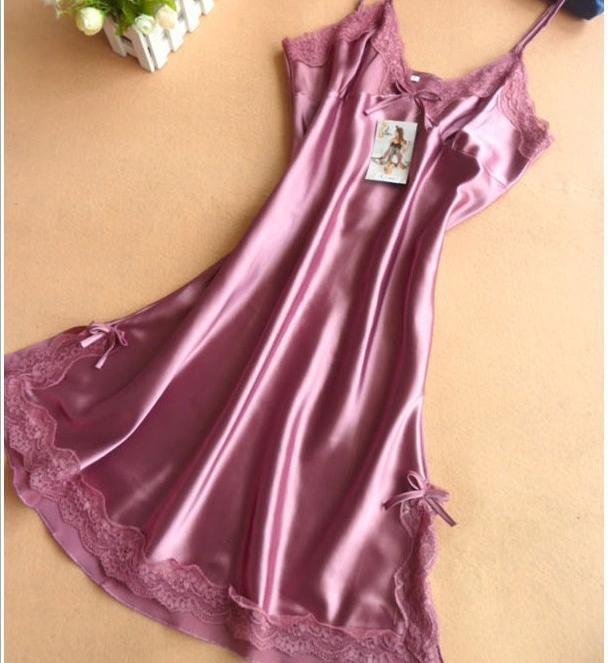 Ladies Sexy Silk Satin Night Dress Sleeveless Nighties V Neck Nightgown  Plus Size Nightdress Lace Sleepwear Nightwear For Women UK 2019 From  Cherry qiu 756d4b84ba