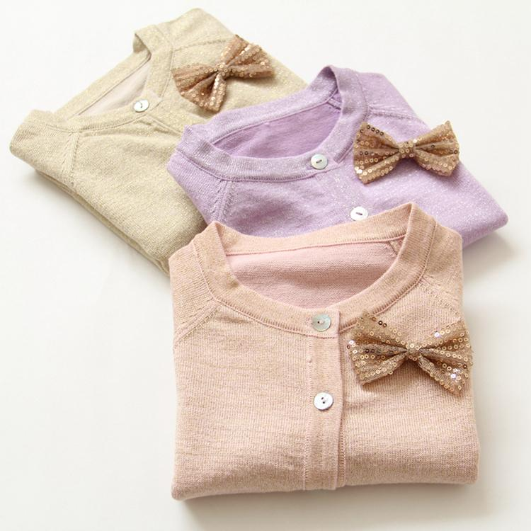 2015 New Girls Sequin Bow Bright Bling Bling Gold Wire Cotton ...