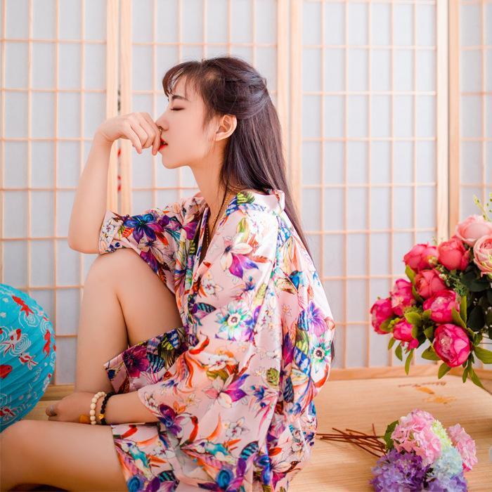 Wedding 2016 Spring Summer Bathrobe Silk Robes Satin Robes For Women ...