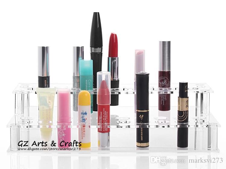 Transparante acryl 41 cabines pen e cig houder elektronische sigaret display plank rack lippenstift make-up opslag sieraden display stand