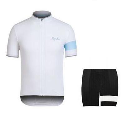 Rapha Shorts Maglie ciclismo Imposta 2016 Cool Bike Suit Bike Jersey traspirante Ciclismo maniche corte Camicia Bib Shorts Mens Abbigliamento da ciclismo
