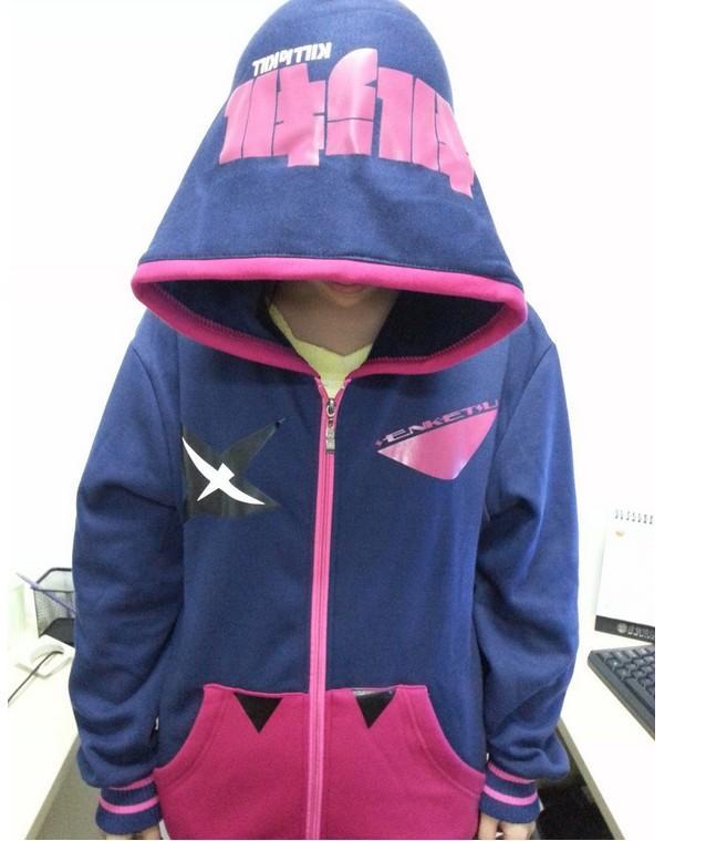Japoński Cartoon Anime Cosplay Costume Zabij La Kill Senketsu Cosplay Hoodie Kurtka