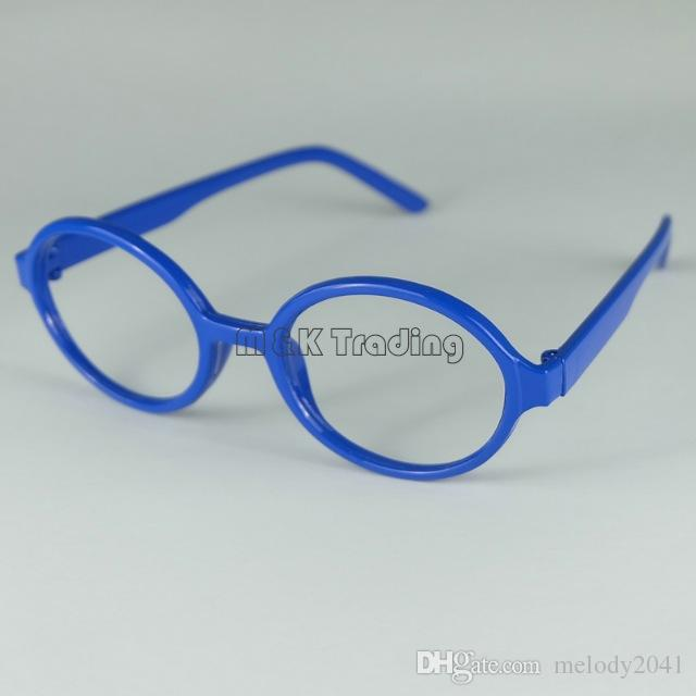 Cheap Frame Fashion Baby Glasses Frame Niños Gafas Decorativas Niños Arale Eyeglasses No Lens Lovely Round Plastic Frame