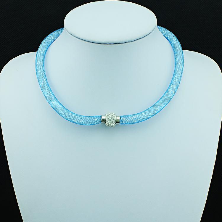 En gros Mix Couleur Collier Rempli Cristal Maille Infinity Blanc Strass Magnétique Fermoir Choker Collier Pour Les Femmes Bijoux