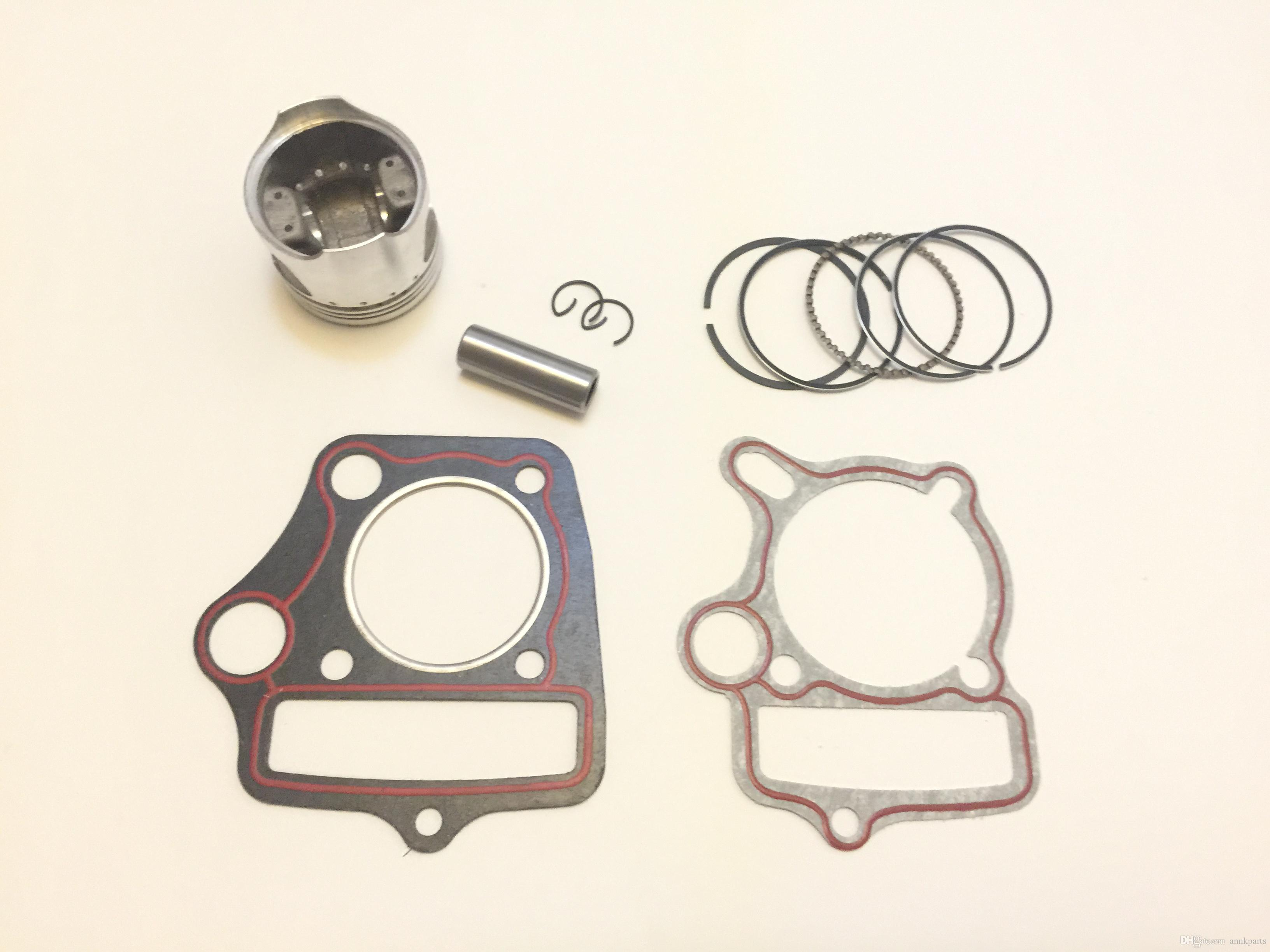 Dirt Pit Bike Engine Piston Kit with gaskets 70cc 90cc 47mm HONDA Loncin Lifan