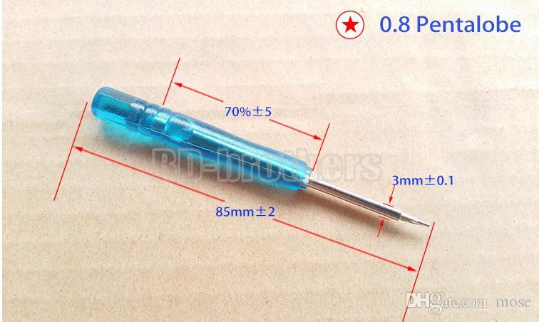Boa chave de fenda Qulity azul 0.8 Pentalobe / 1.5.2.0 Phillips / 1.5 Ferramentas de chaves de fenda reta para i Phone Phone Repair / .