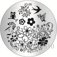 Новый нержавеющей стали круглый маникюр шаблон искусства ногтя печати польский штамп изображения пластины шаблон
