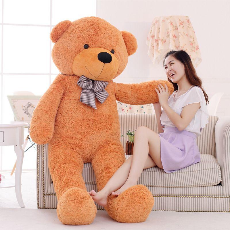 2016 80 cm urso de pelúcia gigante tamanho de vida urso de pelúcia presente de natal venda quente com alta qualidade