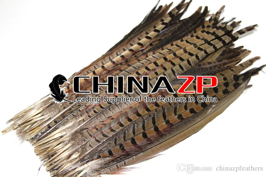 Leading Supplier CHINAZP Crafts Factory 25~30cm 10~12inch Length Good Quality Natural Ringneck Pheasant Tail Feathers