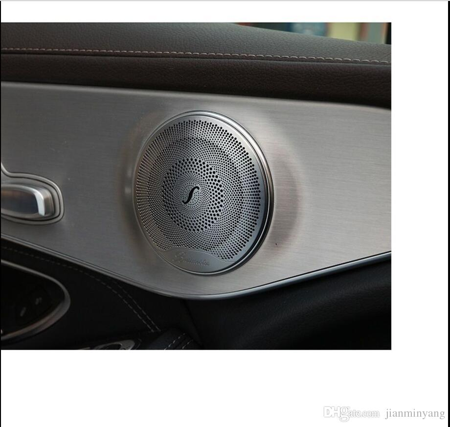 2019 Chrome Matte Speaker Cover Frame Trim For Mercedes Benz C Class