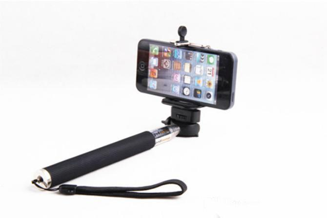 Self-timer Mobile phone Extendable Ski Pole Handle Telescopic Monopod With Tripod Mount For Camera iphone 6 4/4S 5/5S/5C Galaxy S5 S4 MQ50