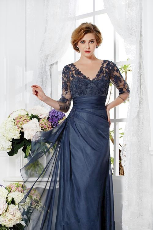 emmani navy blue mother of the bride groom dresses 34