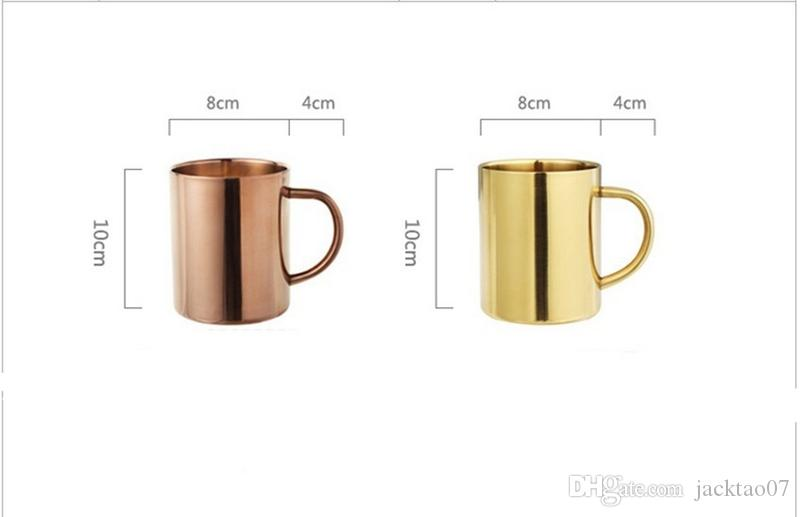 Moscow Mule Mug Stainless Steel Hammered Copper Mug for Beer Ice Coffee Tea Plating Hammered Drum Cocktail Drink Cups