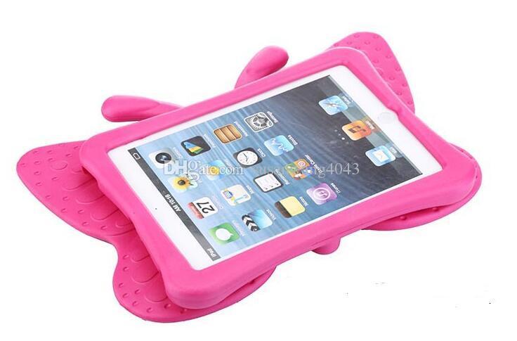 Protetor de Tablet 3D bonito Caso Para iPad Mini 1 2 3 4 Anti queda de Shell Crianças Borboleta À Prova de Choque Almofada de EVA Macio GSZ405