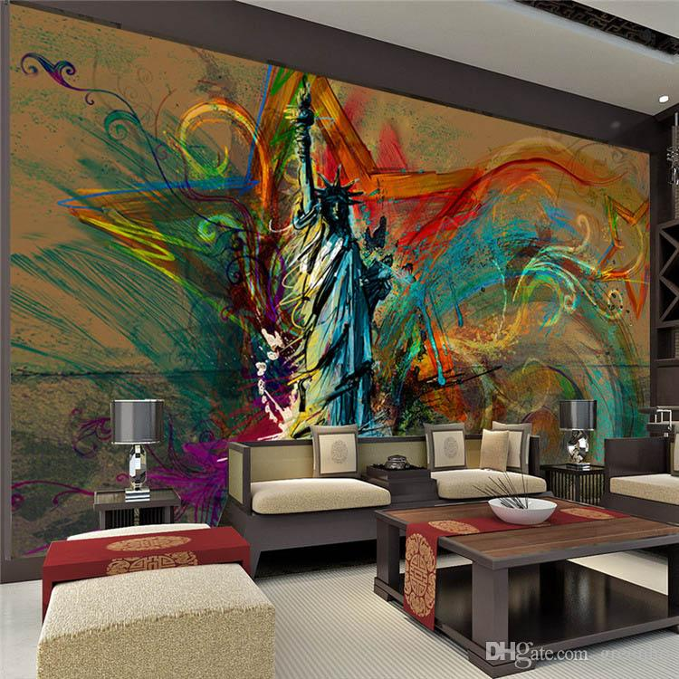 100 Home Design Ideas Free Download Hd Wallpapers: Custom Large Wall Mural Statue Of Liberty Photo Wallpaper