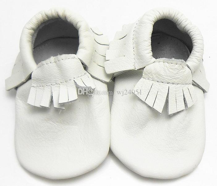 2014New Genuine Leather Baby Moccasins First Walkers Baby Shoes Newborn Baby Girl Boy Shoes