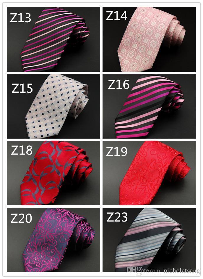 Grano de la tela escocesa de los hombres de lujo del lazo elegante de la manera suave corbata de lujo formal formal de la boda de negocios fiesta de vacaciones lata al por mayor envío gratuito
