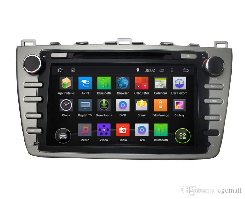 Kapasitif Dokunmatik Ekran 100% Android 4.4 8 inç Araba DVD GPS Mazda 6 Için 2008-2012 Destek DVR OBD Canbus Ile WiFi 3G Dahili