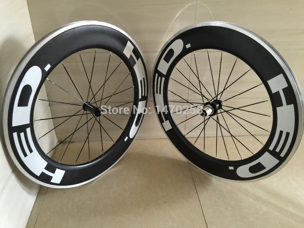 Großhandel Hed Carbon 90mm Carbon Aluminium Clincher Fahrrad Räder ...