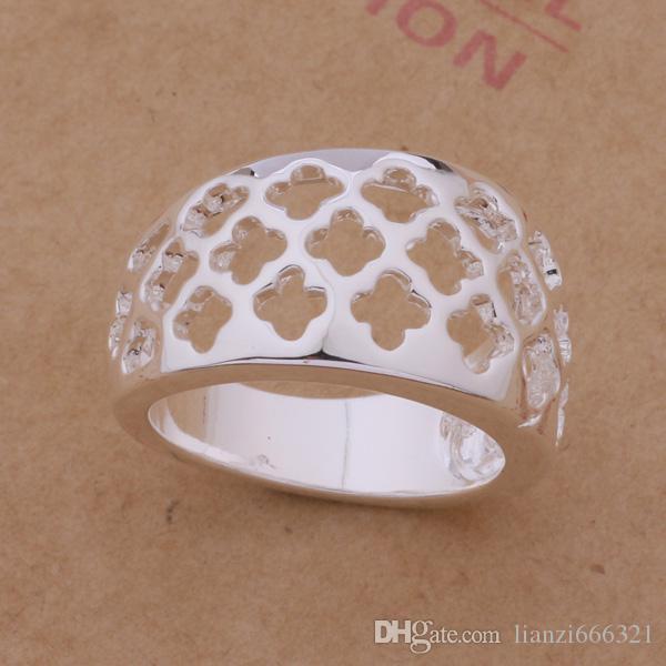 Ordre mixte / 925 argent plaqué anneaux mode bijoux style de fête Top qualité cadeau de Noël livraison gratuite 1766