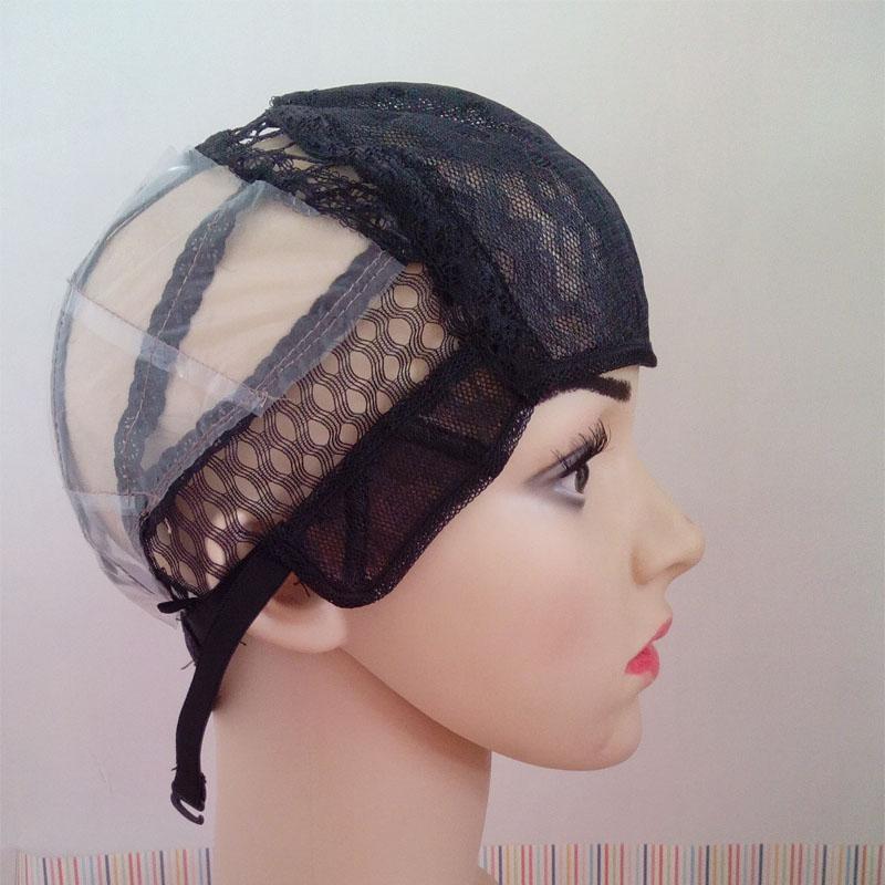 Peruk Yapımı İçin Ayarlanabilir Peruk Caps 5 ADET Orta Boy Tutkalsız Peruk Siyah Renk Ucuz Hairnet Mesh Caps