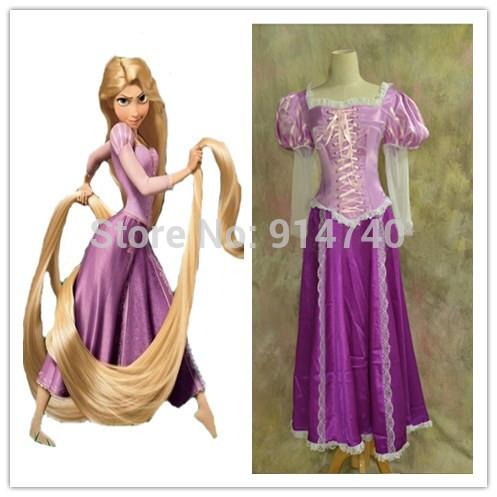 2015 adult beautiful rapunzel costume princess dress cosplay christmas halloween new year stage. Black Bedroom Furniture Sets. Home Design Ideas